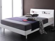 棚・コンセント付きデザインすのこベッド【Alamode】アラモード