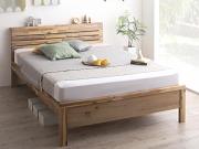 棚・コンセント付き 高さ調整ベッド【Cimos】シーモス