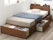 家族一緒に寝られる 連結できる収納ベッド【ディアッカ】棚・コンセント付き