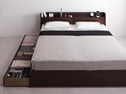 棚・コンセント付き収納ベッド【Else】エルゼ