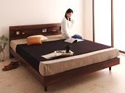 棚・コンセント付きデザインすのこベッド【Kleinod】クライノート