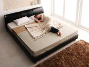 合皮レザー すのこベッド フロアベッド【Klein Wal】クラインヴァール