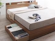 棚・コンセント付き収納ベッド【montray】モントレー