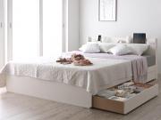スリム棚・4口コンセント付き収納ベッド【Splend】スプレンド