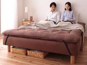 分割式マットレスベッド+リネンセット
