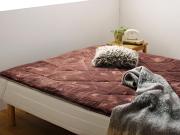 分割式脚付きマットレスベッド 敷きパッド付き
