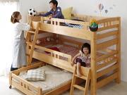 頑丈設計・3段ベッド【Triperro】トリペロ