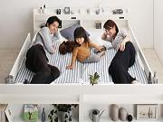 棚、コンセント付き3通り使える2段ベッド【Whenwill】ウェンウィル