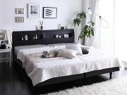 棚・コンセント付き 連結ベッド すのこベッド【Windermere】ウィンダミア